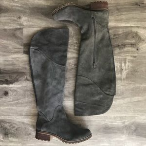 Lucky Brand Grey Leather Boots